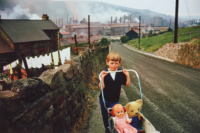 Wales (boy pushing carriage)