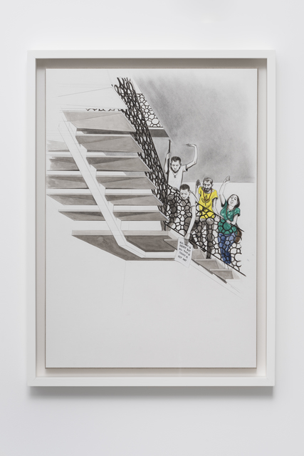, 'Untitled (Students leaning over banister),' 2016, Pilar Corrias Gallery