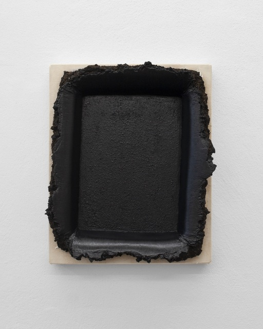 , 'Black Restretch with Soil,' 2018, Galerie Mehdi Chouakri