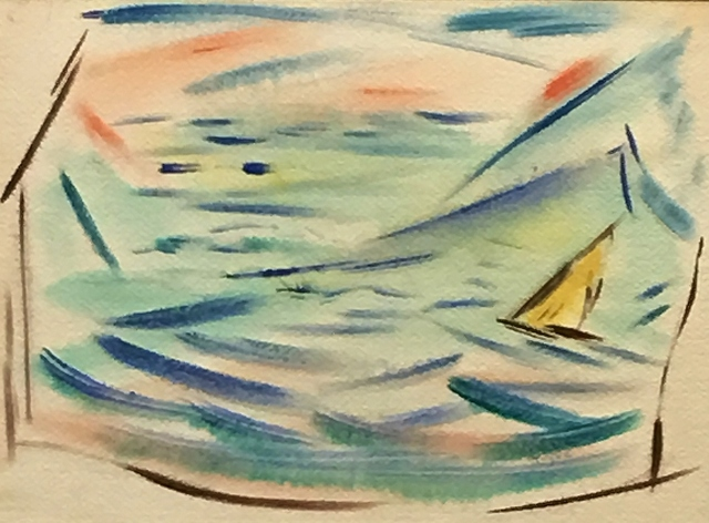 , 'Sailboat in an Abstracted Sea,' 1946-1952, Lawrence Fine Art