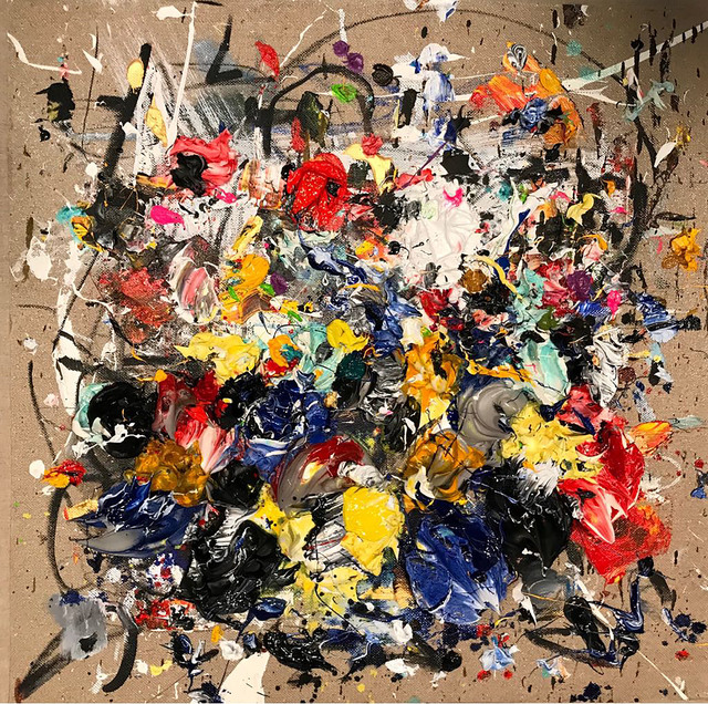 , 'BLUE AND YELLOW,' 2018, Aurora Vigil-Escalera Art Gallery