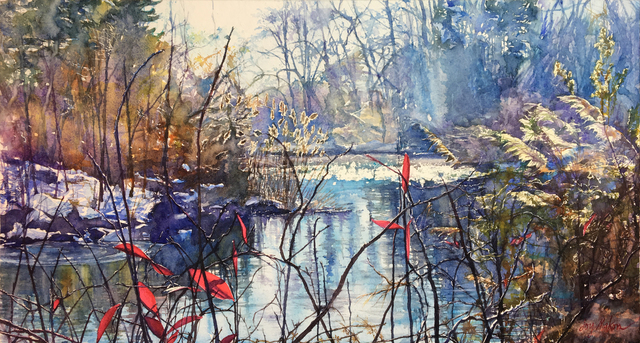 , 'Winter by Lakeside,' 2018, 440 Gallery