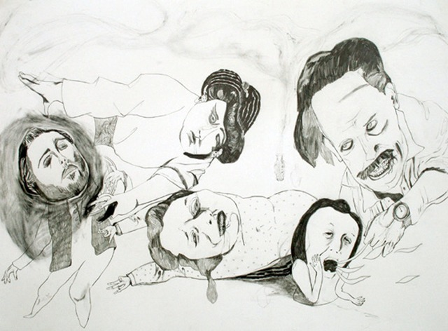 Chiaki Kamikawa, 'Voice Trainer's Textbook', 2007, Drawing, Collage or other Work on Paper, Graphite on paper, Japigozzi Collection