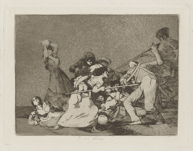 , 'Y son fieras [And they are like wild beasts], plate 5,' 1811-1812, Blanton Museum of Art