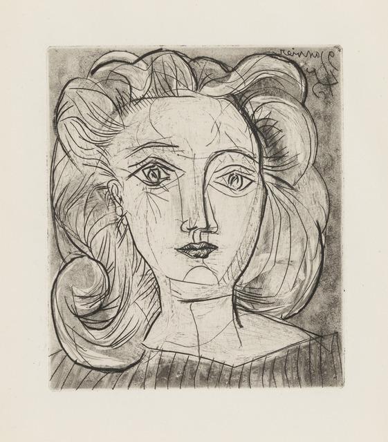 Pablo Picasso, 'Tête de Femme (Françoise)', January 9-1945, Galerie d'Orsay