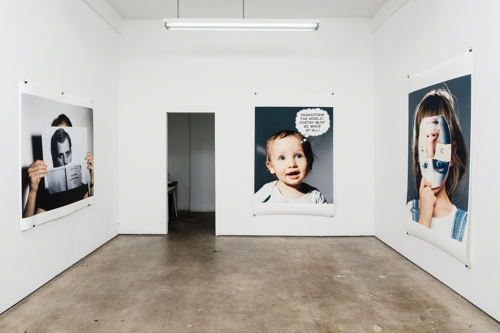 "Aura Rosenberg installation view ""Who Am I? What Am I? Where Am I? at Meliksetian 