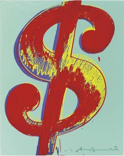 Andy Warhol, '$ (1)', 1982, Print, Unique screenprint on Lenox Museum Board, Coskun Fine Art