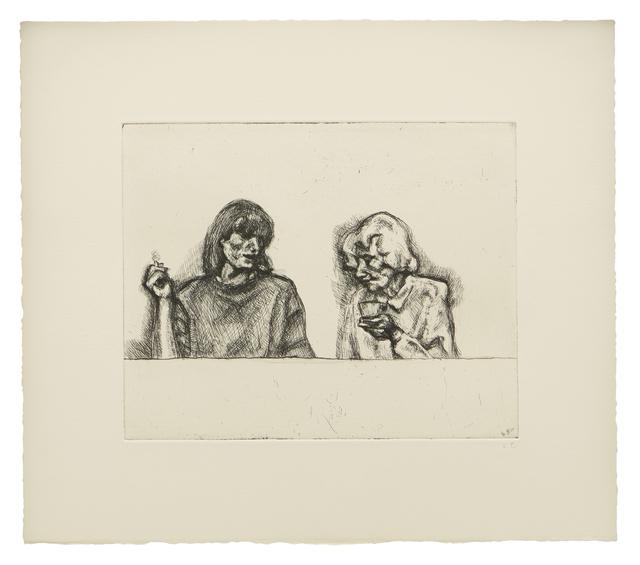 Lucian Freud, 'Conversation', 1998, Matthew Marks Gallery