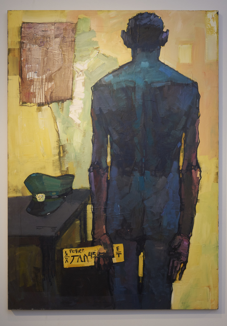 Dawit Abebe, 'No. 2 Background 11', 2014, Painting, Acrylic and collage on canvas, Rema Hort Mann Foundation Benefit Auction