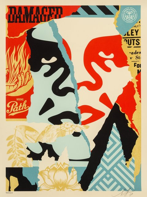 Shepard Fairey, 'Damaged', 2018, Heritage Auctions