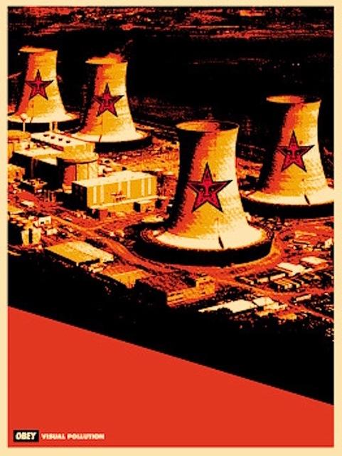Shepard Fairey (OBEY), 'Visual Pollution Smoke Stacks', 2001, Gregg Shienbaum Fine Art
