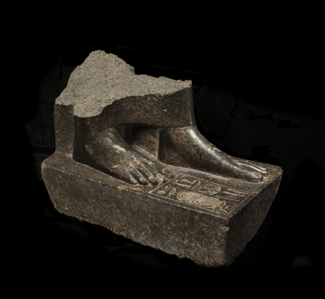 , 'Egyptian granodiorite statue base of Sepdet,' ca. 1350 BCE, Charles Ede
