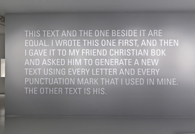 , 'Two Equal Texts,' 2007, Power Plant