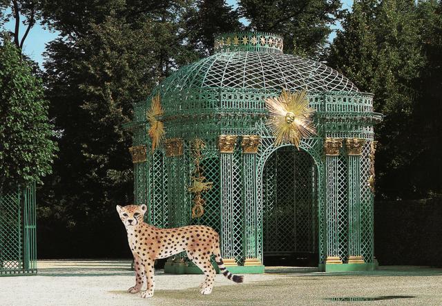 , 'Cheetah and Pavillion at Sans Souci,' 2013, TrépanierBaer Gallery