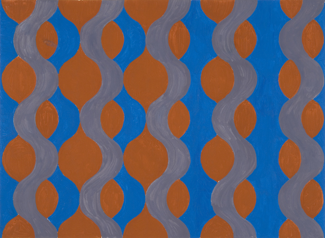 , 'Blue, Brown and Grey Wave,' 1965, Flowers