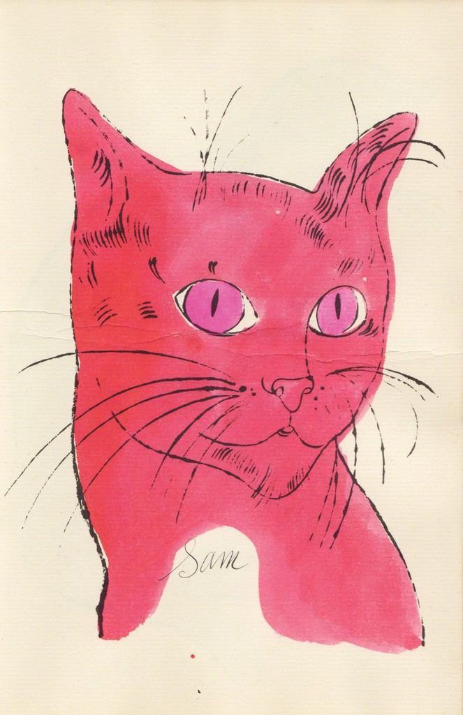Andy Warhol, '(Pink Sam with Pink Eyes),' ca. 1954, Sims Reed Gallery