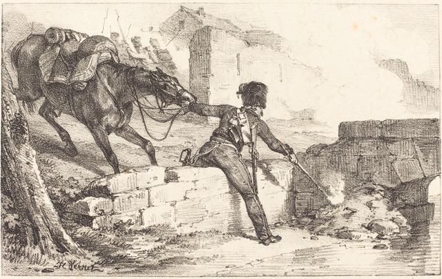 Horace Vernet, 'Artilleryman Lighting a Mine', National Gallery of Art, Washington, D.C.