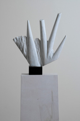 Caroline Ramersdorfer, 'Indicator', 2009, Sculpture, Colorado marble, sealed steel, C. Grimaldis Gallery