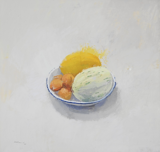 , 'Still life with melon and apricot,' 2019, PontArte