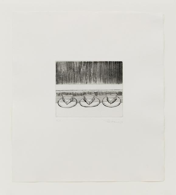 Wayne Thiebaud, 'Case Pies', 1965, Print, Drypoint, Mary Ryan Gallery, Inc