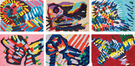 Karel Appel, 'Six abstract prints,' ca. 1978, Phillips: Evening and Day Editions (October 2016)