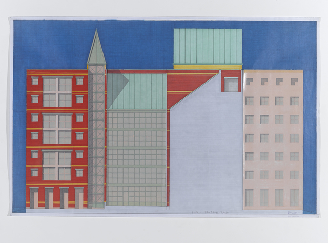 Aldo Rossi, 'Berlin Friederichstrasse', Antonia Jannone Disegni di Architettura
