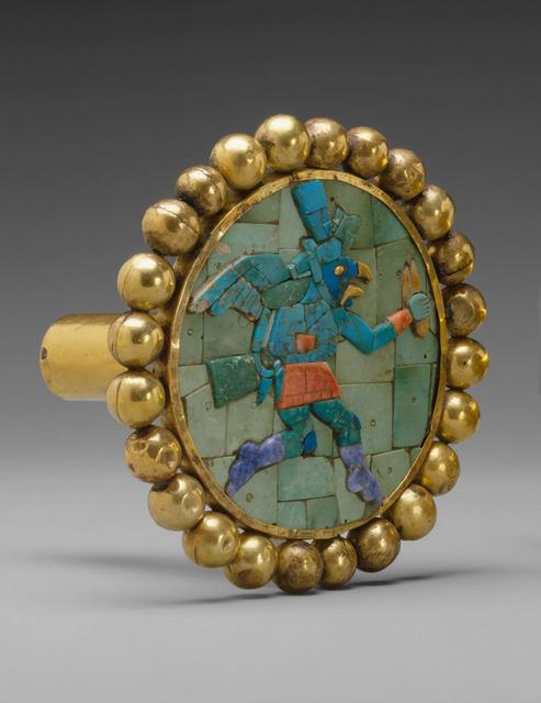 Unknown Moche, 'Ear Ornament, Winged Runner', 400–700, The Metropolitan Museum of Art