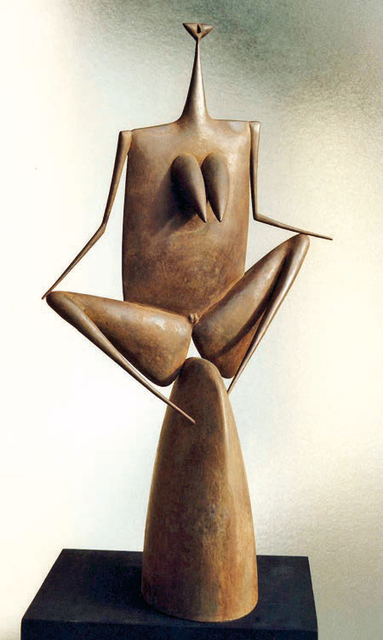 Philippe Hiquily, 'L'IMPUDIQUE', 1992, Sculpture, Patinated brass, Mark Hachem Gallery