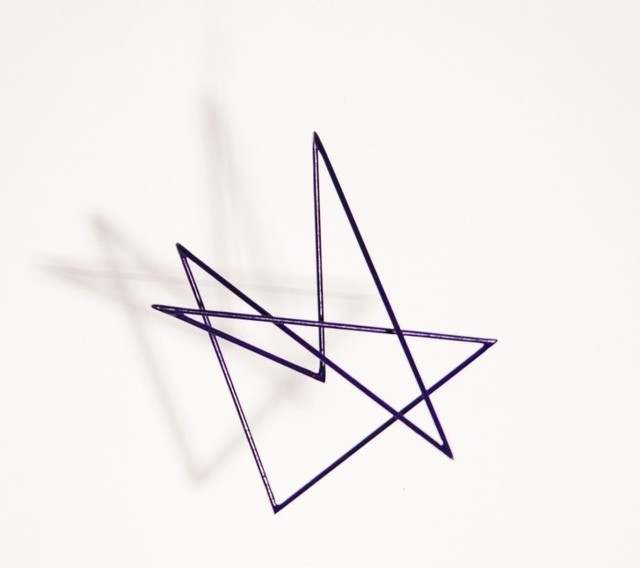 , 'Trait 57 violet,' 2014, Galerie Marie-Robin