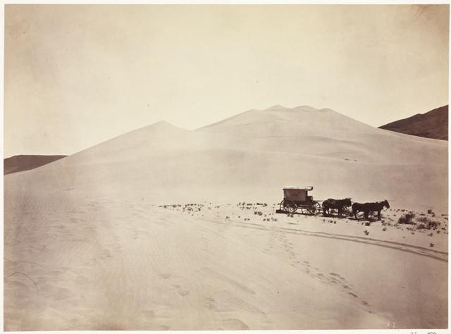 Timothy H. O'Sullivan, 'Sand Dunes, Carson Desert, Nevada', 1867, Photography, Albumen print from wet collodion negative, Cleveland Museum of Art
