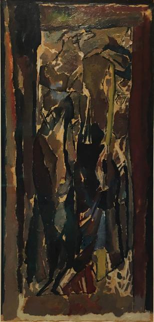 , 'Figure composition (Stable interior series),' 1919, Waterhouse & Dodd