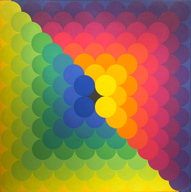 , 'Chromatic Amassment,' 1971, Peyton Wright Gallery