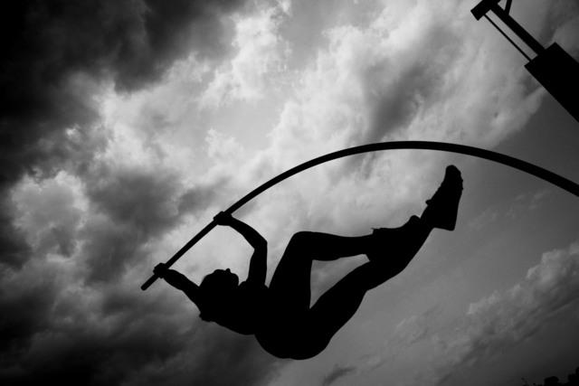 , 'Russian polevaulter Yelena Isinbayeva. Formia, Italy. ,' , Magnum Photos