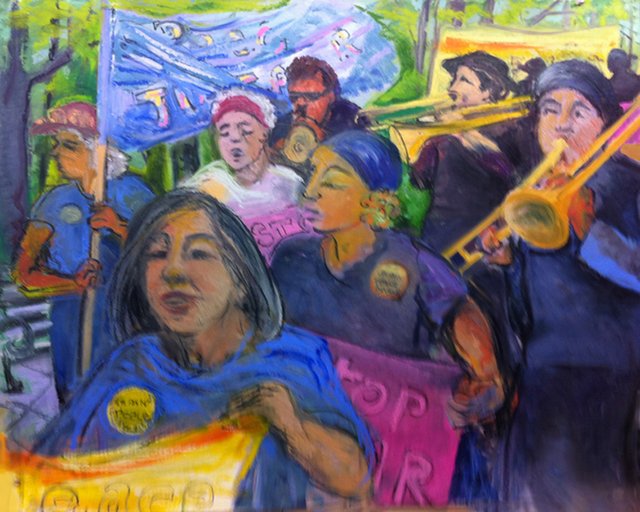 , '8146N Granny Peace Brigade Series: Mother's Day Promenade,' 2011, Salomon Arts Gallery