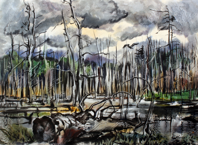 , 'Burnt Forrest Swamp,' ca. 1940, Benjaman Gallery Group