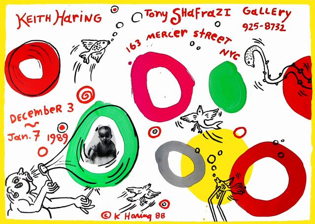 Keith Haring, 'Keith Haring Tony Shafrazi exhibition poster 1989', 1989, Lot 180