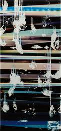 Cross Contaminated RA4 Contact Print [Black Curl (9:6/YCM/Six Magnet: Los Angeles, California, January 8th 2014, Fuji color Crystal Archive Super Type C, Em. No. 199-014, Kodak Ektacolor RA Bleach-Fix and Replenisher, Cat. No. 847 1484, 02914)]