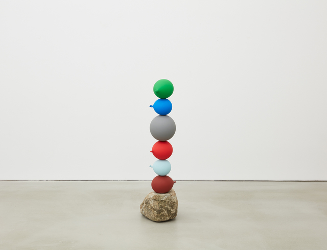 Gimhongsok, 'Untitled (Short People) - 6 balloons', 2018, Sculpture, Stone, urethane paint on stainless steel, Kukje Gallery