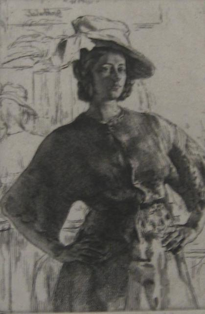, 'The Mirror (Anais),' 1920, Paramour Fine Arts