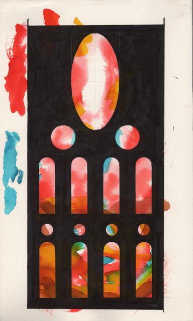 , '2- Estudi previ- finestres de la ressurreció, migidia rossasa nord-est,' , Sala Parés