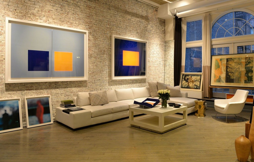 Two large-scale works by Garry Fabian Miller, seen here installed in New York, they will be seen in London for the first time at Photo London 2017.