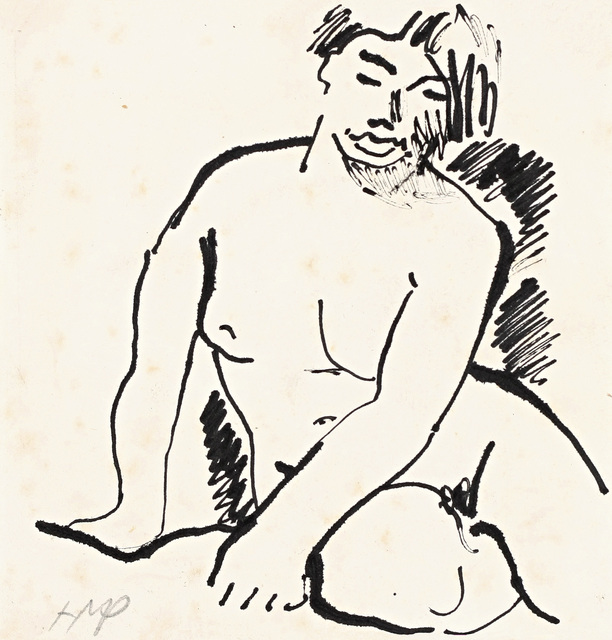 , 'Sitzender Akt (Seated Nude),' 1916-1918, Galerie Herold
