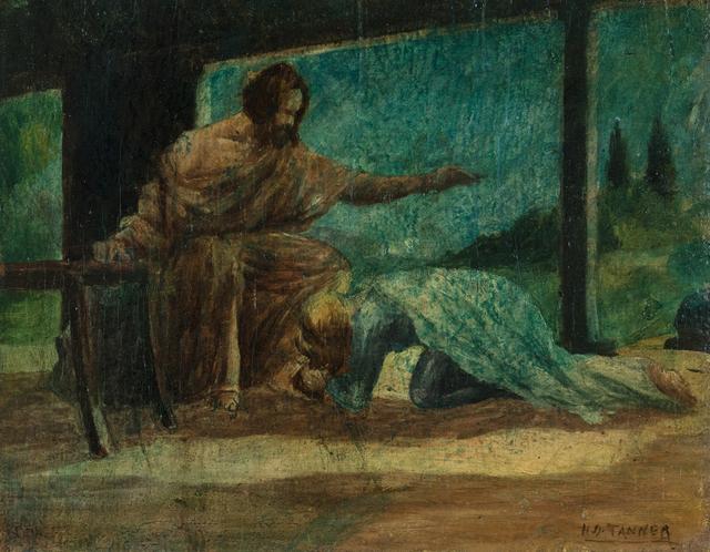 , 'Mary Washing the Feet of Christ,' ca. 1910, Michael Rosenfeld Gallery