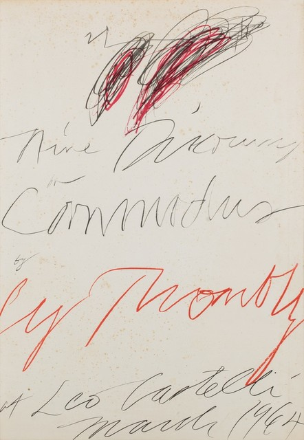 Cy Twombly, 'Nine discourses on Commodus by Cy Twombly at Leo Castelli', 1964, Finarte