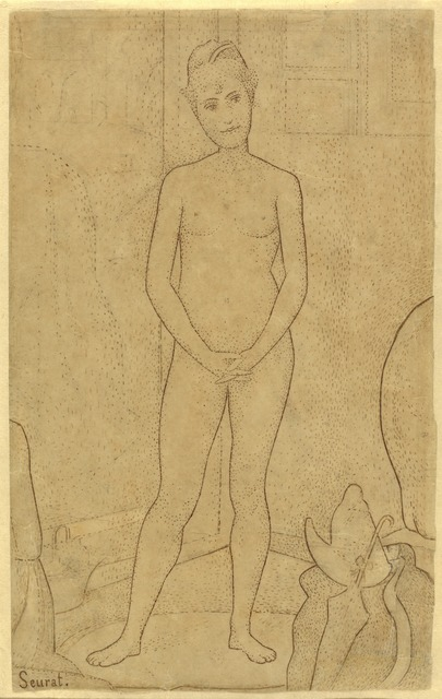 "Georges Seurat, 'Study after ""The Models""', 1888, National Gallery of Art, Washington, D.C."