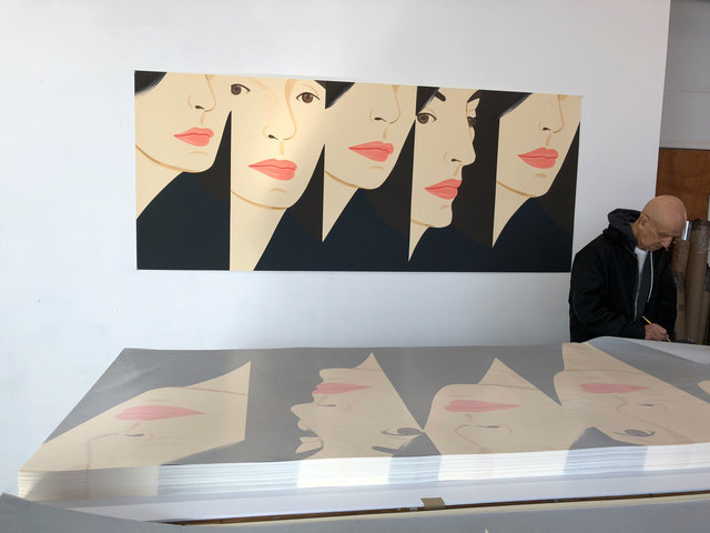 Alex Katz, 'Vivien X 5', 2018, Adamar Fine Arts