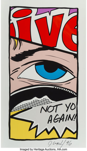 CRASH, 'Not You Again', 1996, Print, Screenprint in colors on aluminum, Heritage Auctions