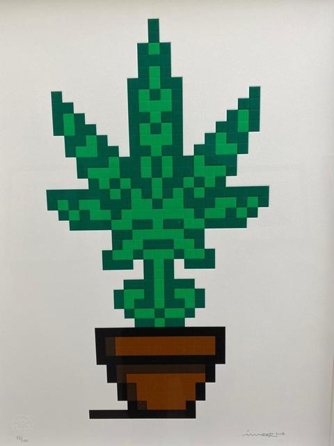 Invader, 'Hollyweed ', 2018, Print, Silk Screen Print, Lyons Gallery