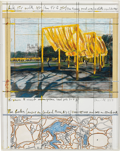 Christo, 'The Gates (Project for Central Park, N. Y. C.)', 1997, Phillips