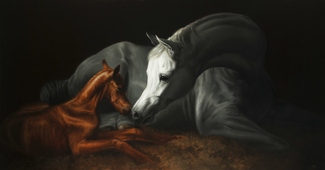 , '4. Arabian Mare and Her New Born Foal,' 2016, Sladmore Contemporary